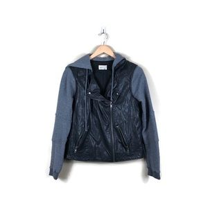 Jolt Faux Leather Hooded Jacket